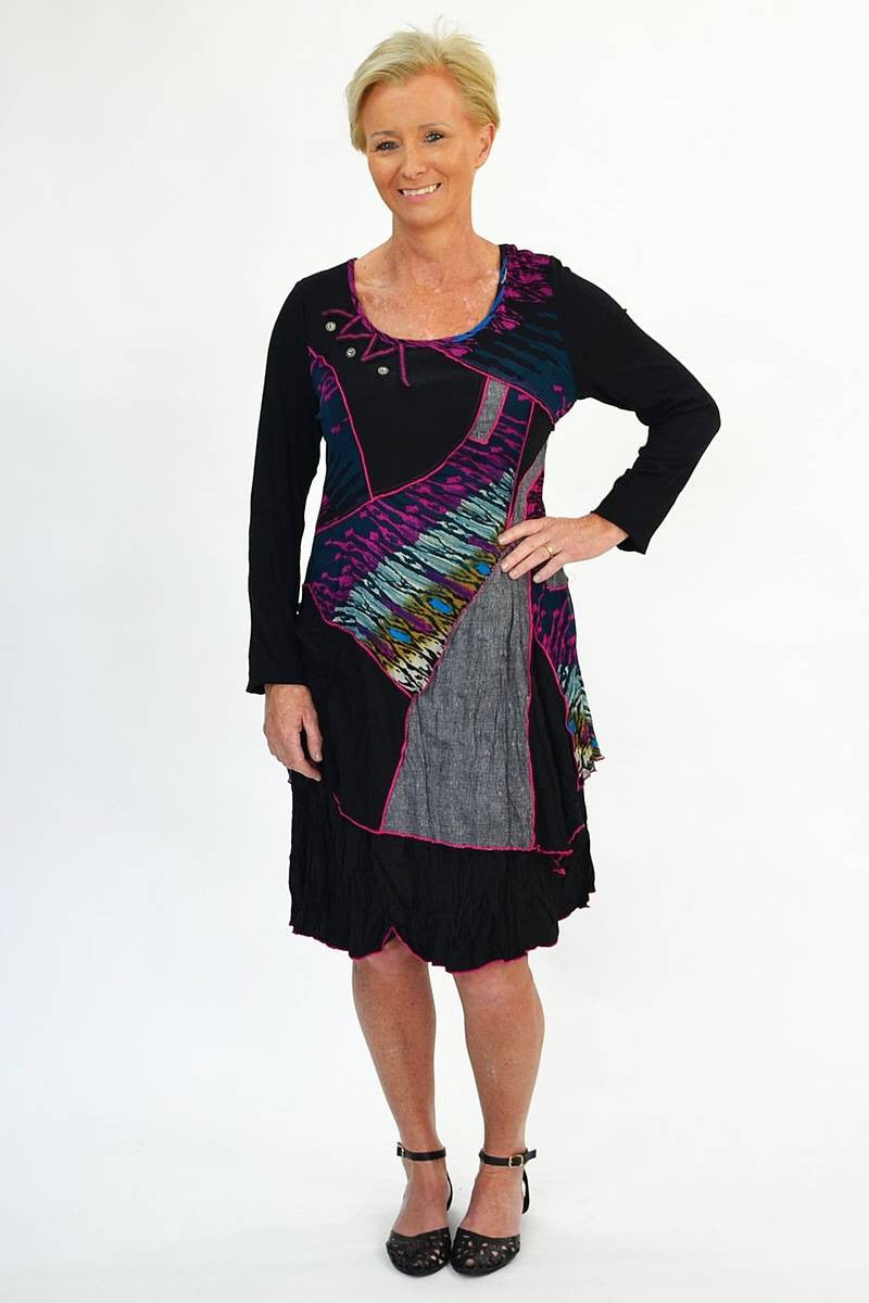 Purple Patch Tunic - at I Love Tunics @ www.ilovetunics.com = Number One! Tunics Destination