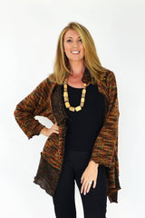 Zebart Oversize Knit Cardigan - at I Love Tunics @ www.ilovetunics.com = Number One! Tunics Destination