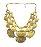 Beaten golden layer necklace - I Love Tunics @ www.ilovetunics.com