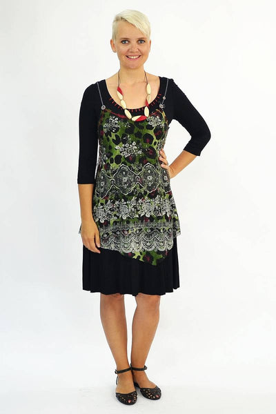 Long Green Floral Tunic