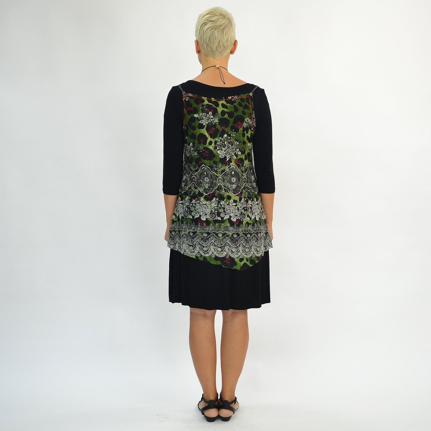Long Green Floral Tunic | I Love Tunics | Tunic Tops | Tunic | Tunic Dresses  | womens clothing online