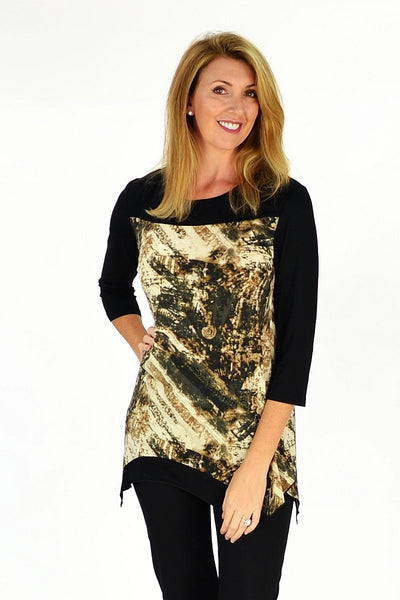 Brown Madison Tunic - at I Love Tunics @ www.ilovetunics.com = Number One! Tunics Destination