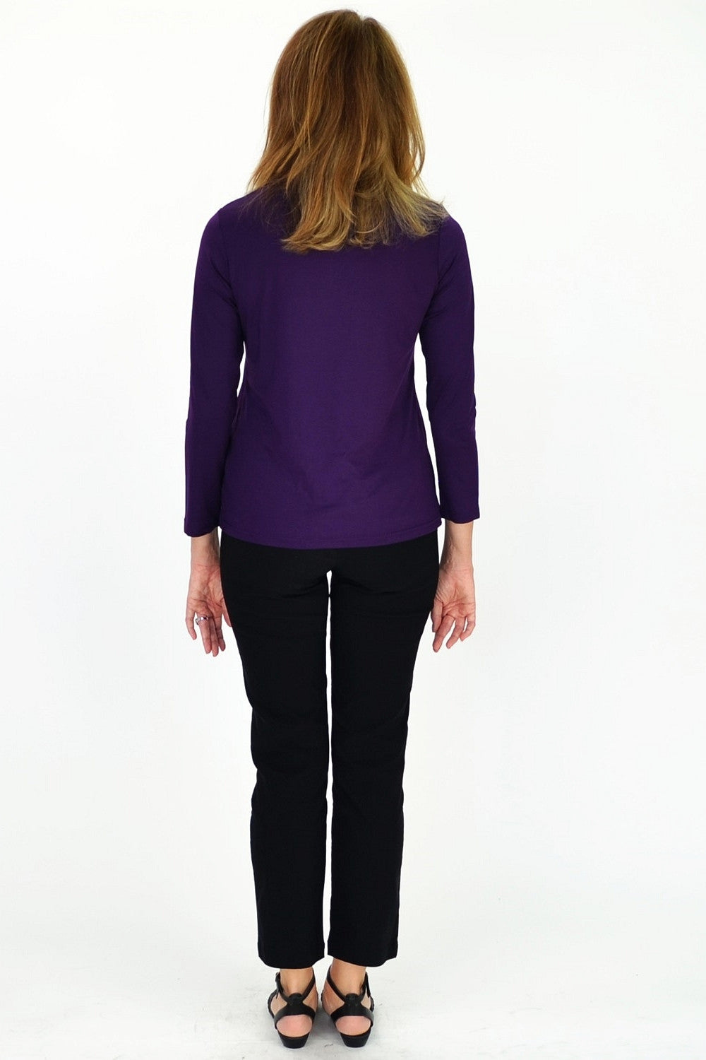 Purple 3/4 Sleeve Basic | I Love Tunics | Tunic Tops | Tunic | Tunic Dresses  | womens clothing online