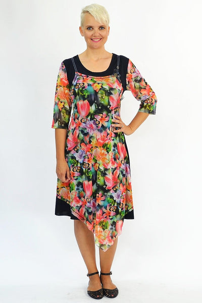 Shirley's Garden of Flowers Tunic - at I Love Tunics @ www.ilovetunics.com = Number One! Tunics Destination