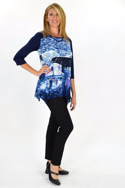 Navy Blue French Village Tunic