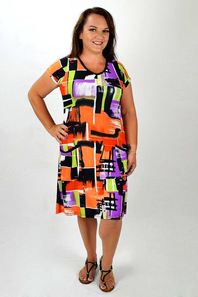 Orange Square Tunic | I Love Tunics | Tunic Tops | Tunic | Tunic Dresses  | womens clothing online