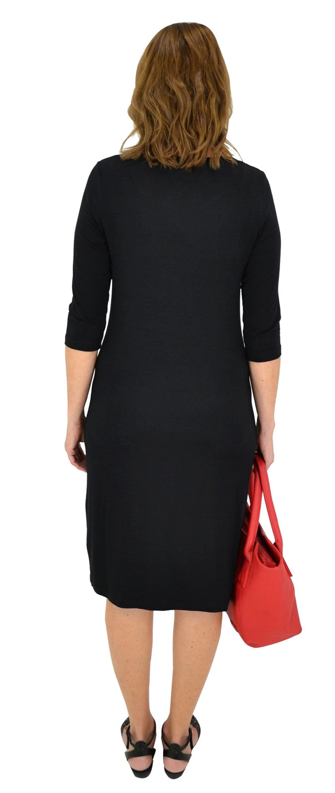 Black Long Tunic Dress - I Love Tunics @ www.ilovetunics.com