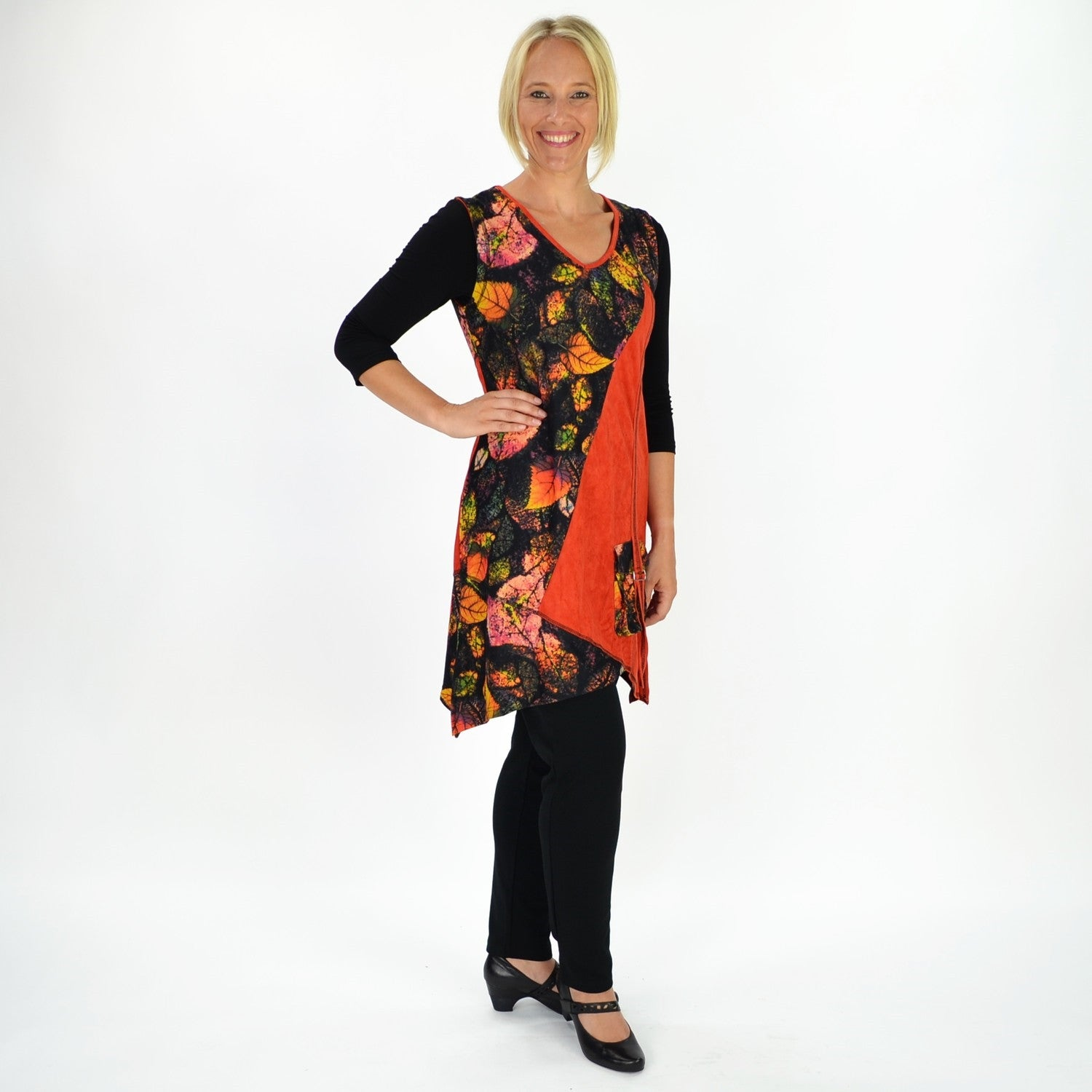 Orange Georgy Tunic - at I Love Tunics @ www.ilovetunics.com = Number One! Tunics Destination