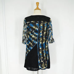 Blue Olive Leaf Pattern Tunic - at I Love Tunics @ www.ilovetunics.com = Number One! Tunics Destination