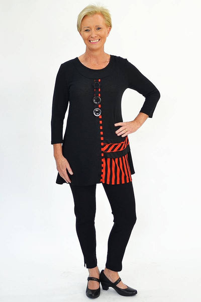 Red Swing 60's Tunic
