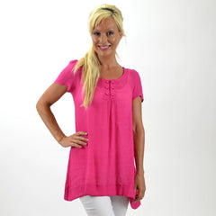 Pink Sleeve Tunic - at I Love Tunics @ www.ilovetunics.com = Number One! Tunics Destination