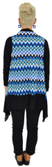 Blue Zig Zag Mesh Cardigan - at I Love Tunics @ www.ilovetunics.com = Number One! Tunics Destination