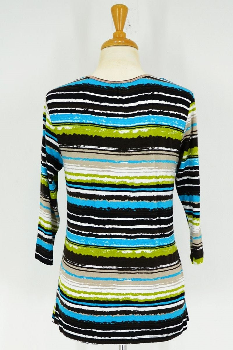 Blue Green Brown Stripe Tunic | I Love Tunics | Tunic Tops | Tunic | Tunic Dresses  | womens clothing online