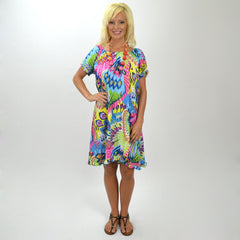 Dancing Colourful Peacock Tunic | I Love Tunics | Tunic Tops | Tunic Dresses | Women's Tops | Plus Size Australia | Mature Fashion