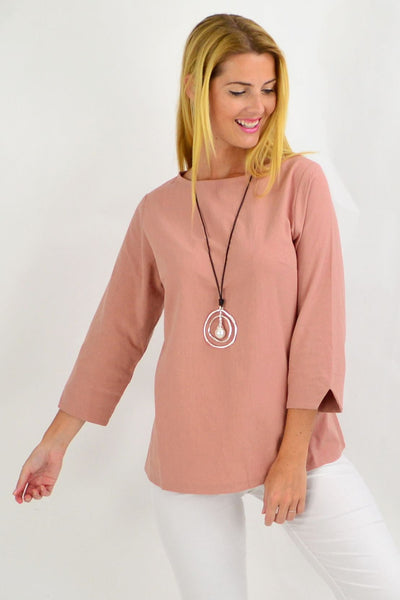Dusty Pink Box Tunic Blouse | I Love Tunics | Tunic Tops | Tunic | Tunic Dresses  | womens clothing online