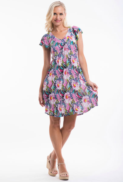 Fireworks Floral Tunic Dress