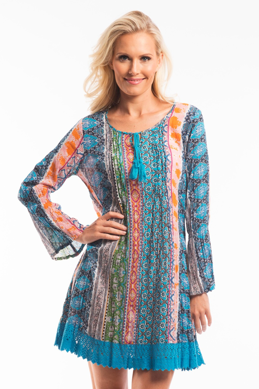 Colourful Carnival Tunic Dress - at I Love Tunics @ www.ilovetunics.com = Number One! Tunics Destination
