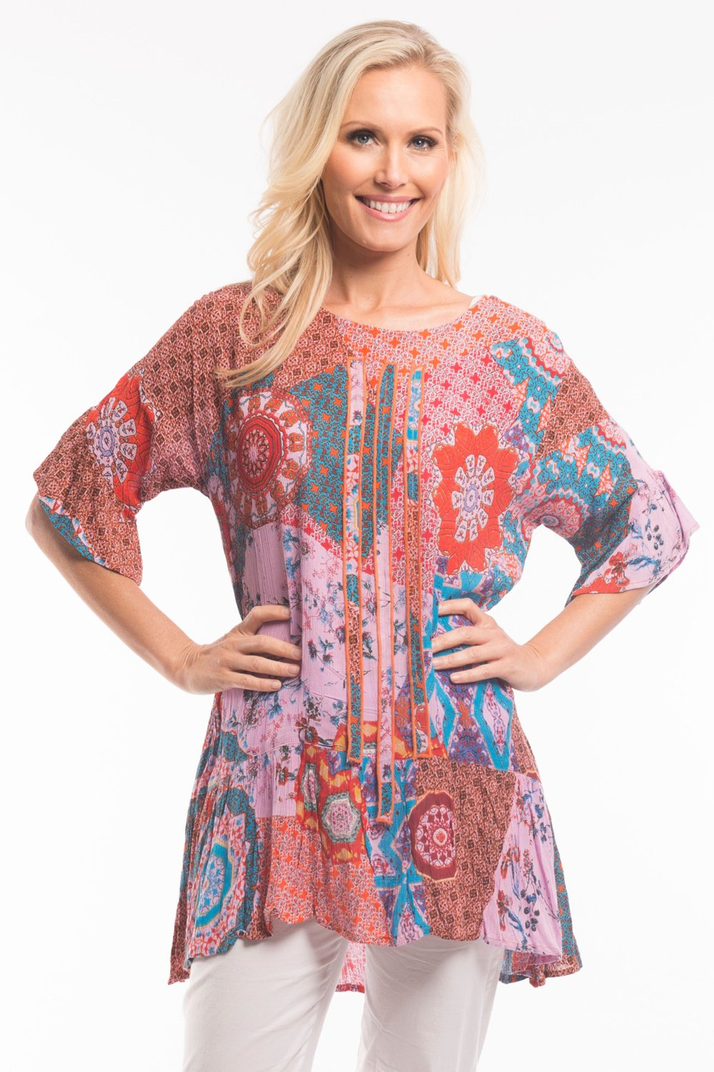 Pink Renee Tunic - at I Love Tunics @ www.ilovetunics.com = Number One! Tunics Destination