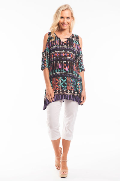 Black Carnival Tunic Top