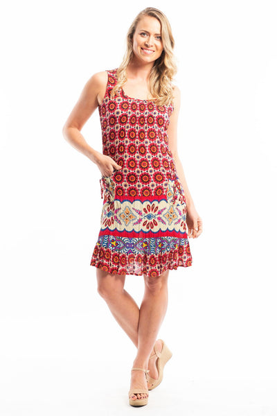Tribal Sun Pocket Sleeveless Tunic