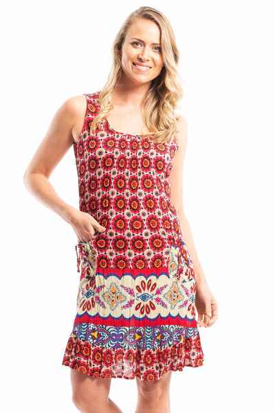 Tribal Sun Pocket Sleeveless Tunic | I Love Tunics | Tunic Tops | Tunic | Tunic Dresses  | womens clothing online