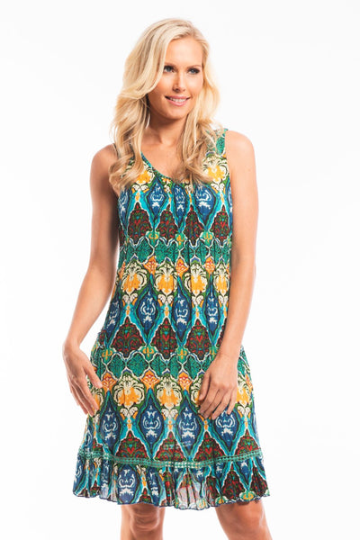Marrakesh Sleeveless Tunic Dress - at I Love Tunics @ www.ilovetunics.com = Number One! Tunics Destination