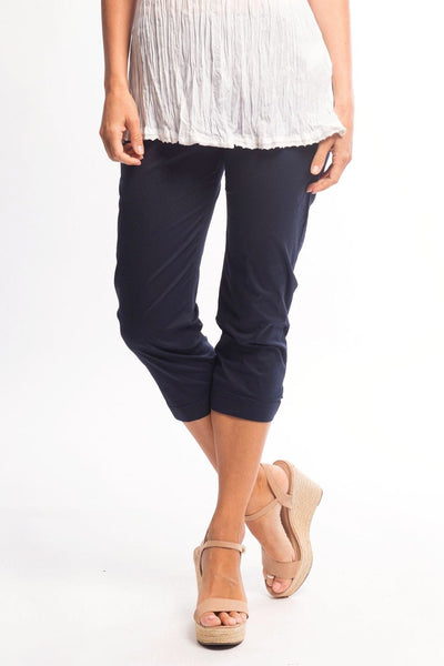 3/4 Navy Blue Cotton Pants