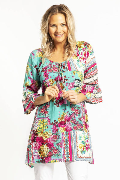 Bora Bora Dwij Tunic Top Blouse | I Love Tunics | Tunic Tops | Tunic Dresses | Women's Tops | Plus Size Australia | Mature Fashion