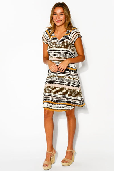 Tribal Geos Tunic Dress