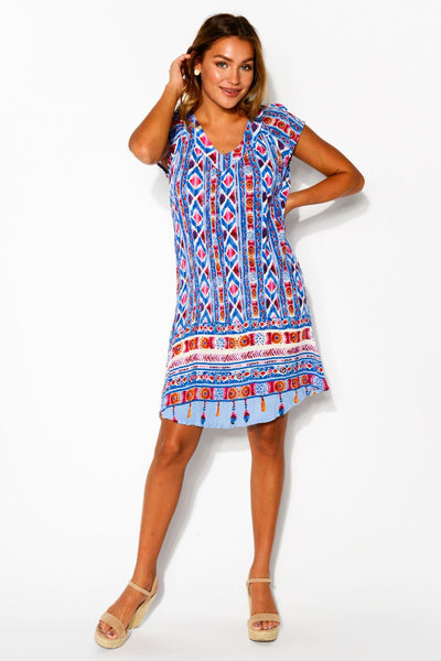 Less Monday Short Sleeve Tunic Dress