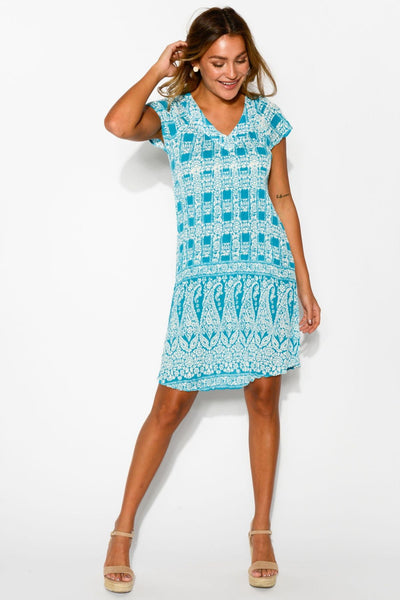 Rajasthan Ezy Dress Short Sleeve Tunic Dress