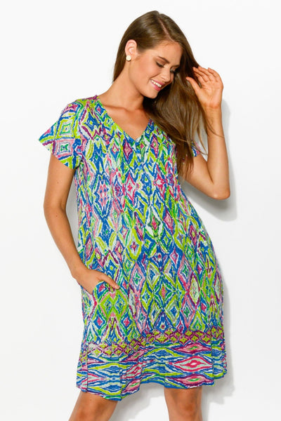 Colour Play Crinkle Tunic Dress | I Love Tunics | Tunic Tops | Tunic Dresses | Women's Tops | Plus Size Australia | Mature Fashion