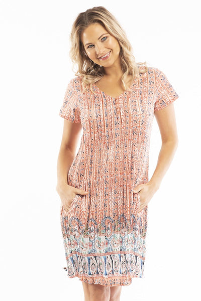 Peach Candy Cap Sleeve Tunic Dress | I Love Tunics | Tunic Tops | Tunic | Tunic Dresses  | womens clothing online
