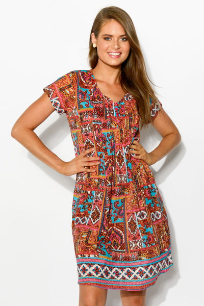 DW26 turkish delight cotton dress