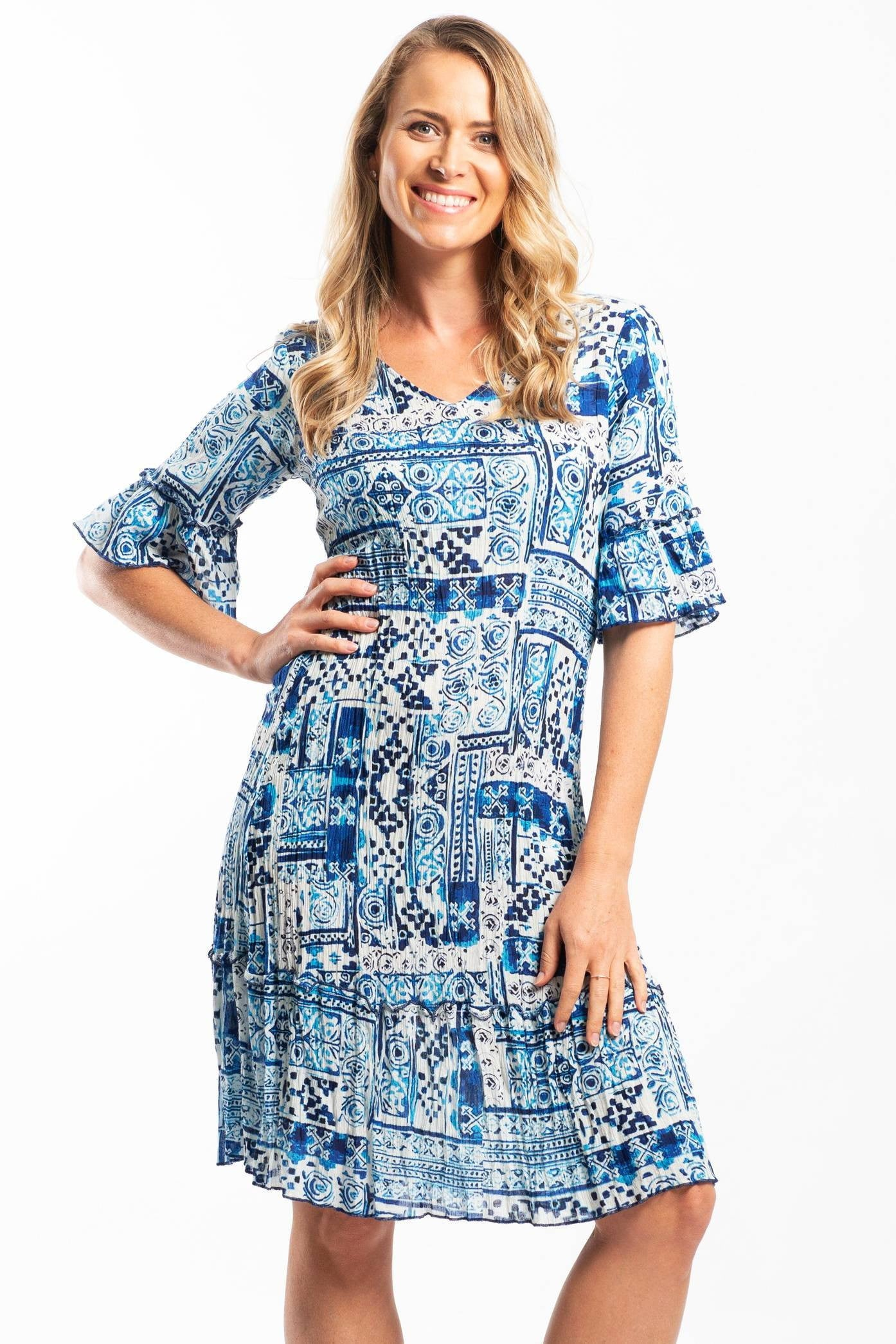 Ocean Waves Long Tunic Dress | I Love Tunics | Tunic Tops | Tunic | Tunic Dresses  | womens clothing online