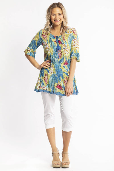 Bora Bora Cotton Tunic Blouse