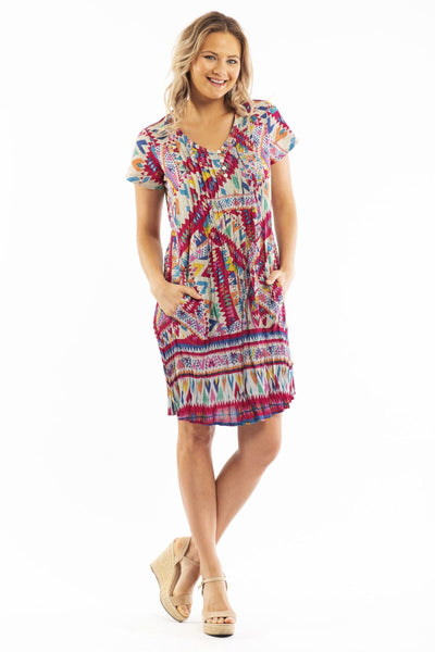 Peruvian Loom Purple Tunic Dress