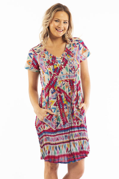 DWIJ Peruvian Loom Purple Tunic Dress