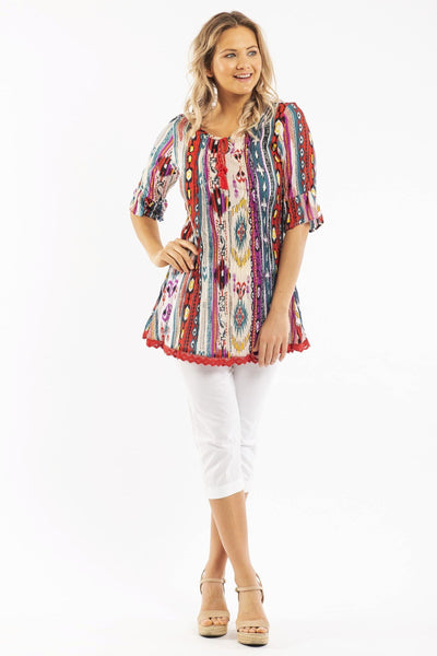 Peruvian Loom DWIJ Cotton Tunic Blouse