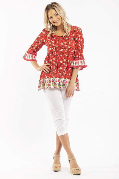 Romanian Folklore Cotton Tunic Top