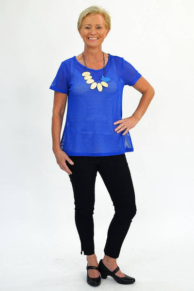 Blue Sheer Basic Tunic