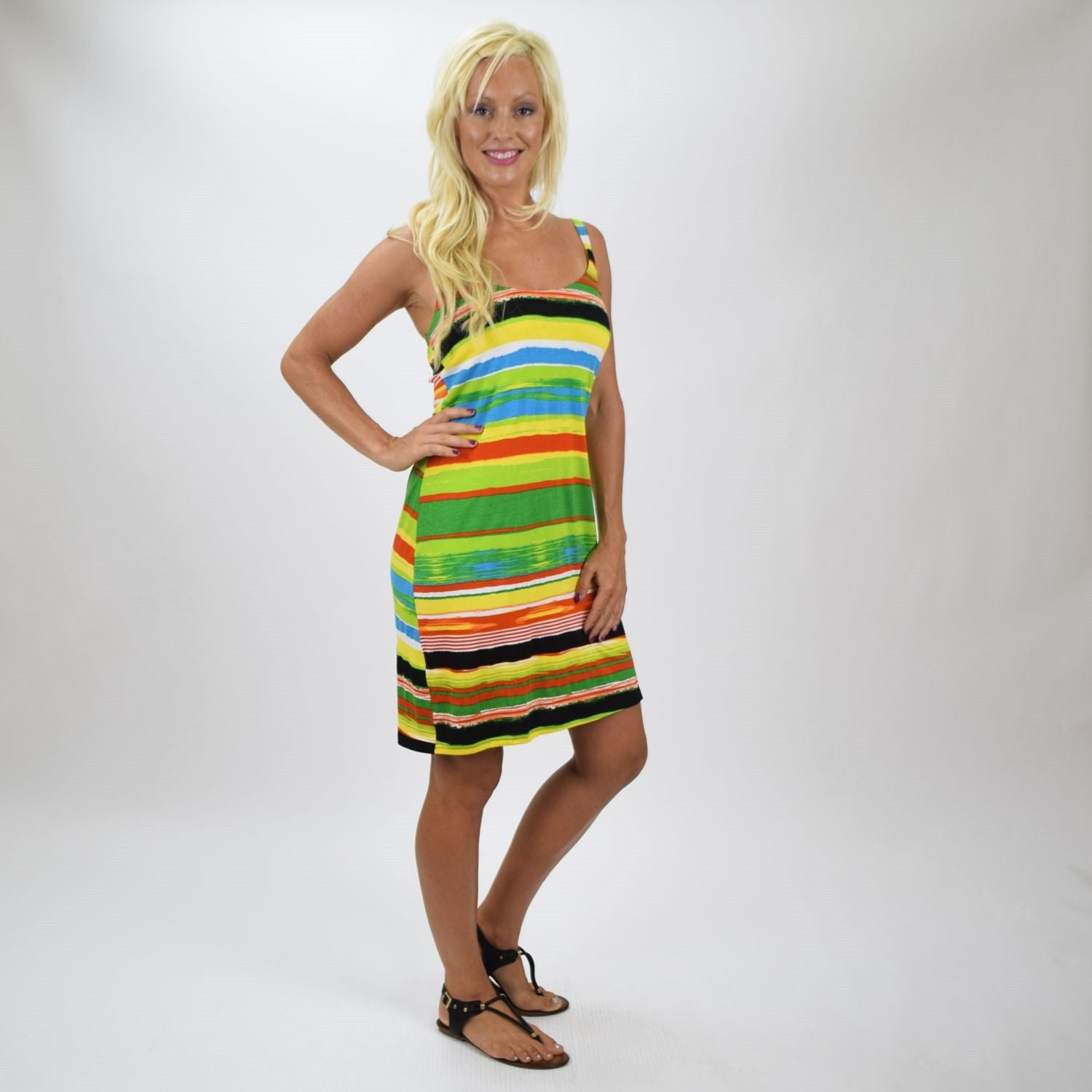 Lora Stripe Tunic Dress - at I Love Tunics @ www.ilovetunics.com = Number One! Tunics Destination