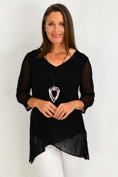 Black Eleanor Tunic Top | I Love Tunics | Tunic Tops | Tunic | Tunic Dresses  | womens clothing online