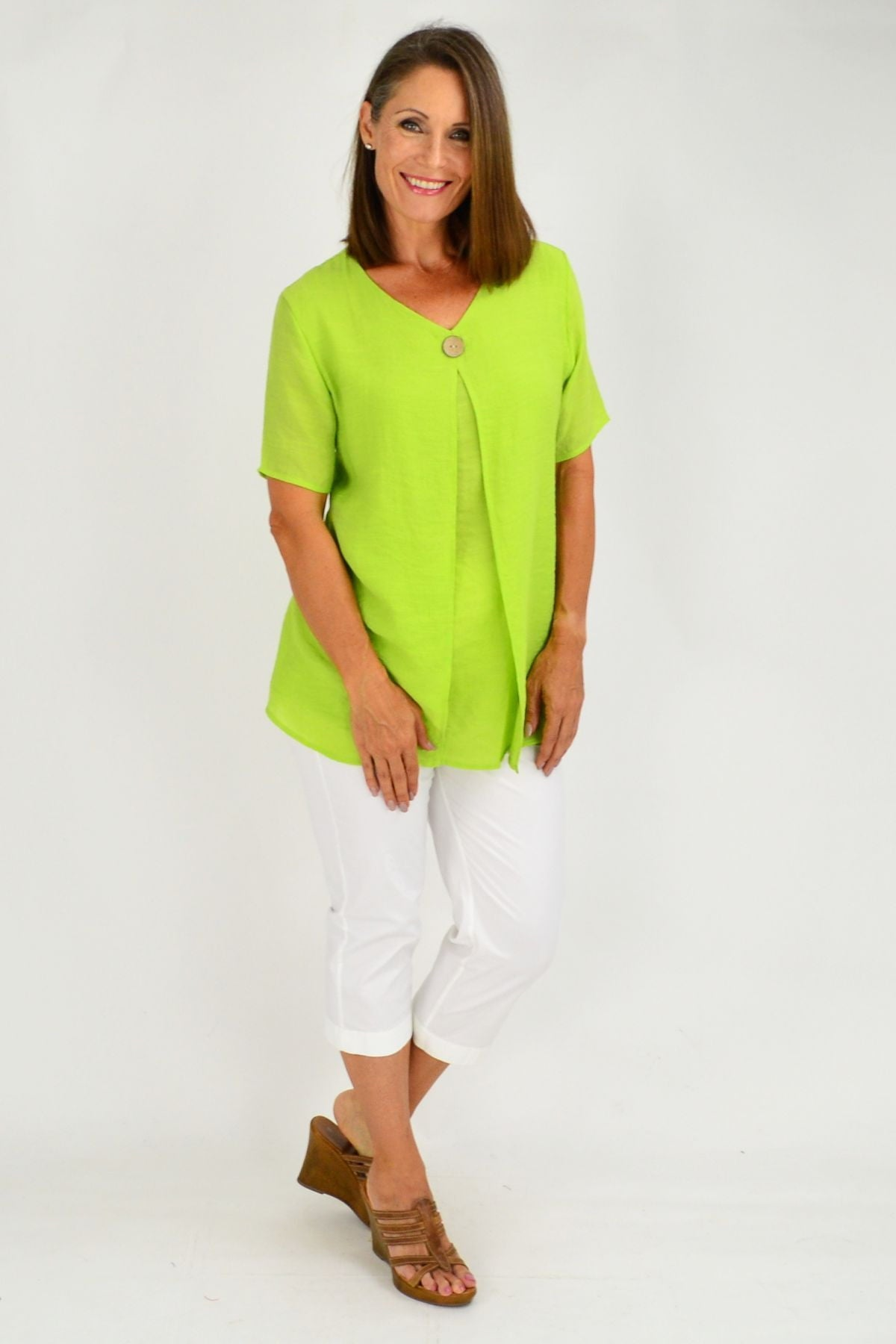Lime Green Julie Short Sleeve Tunic | I Love Tunics | Tunic Tops | Tunic | Tunic Dresses  | womens clothing online