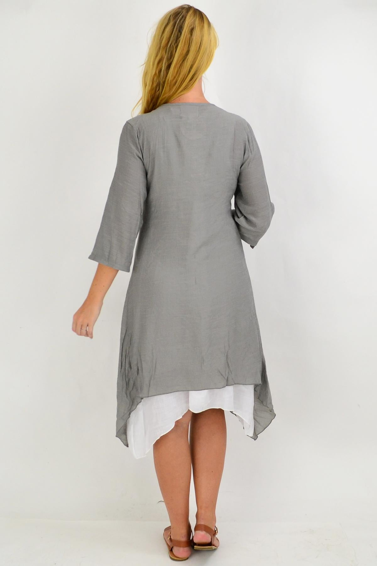 Grey Quarter Sleeve Easy Wear Summer Cardi | I Love Tunics | Tunic Tops | Tunic | Tunic Dresses  | womens clothing online