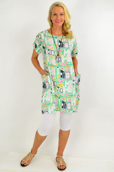 Green Teen Tunic Dress