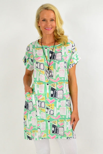 Green Teen Tunic Dress | I Love Tunics | Tunic Tops | Tunic | Tunic Dresses  | womens clothing online