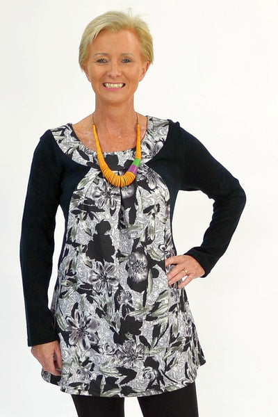 Green Garden Winter Tunic - at I Love Tunics @ www.ilovetunics.com = Number One! Tunics Destination