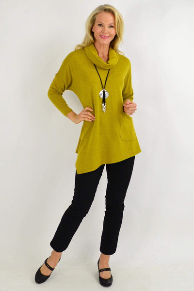 2 in 1 Mustard Scarf Tunic Top | I Love Tunics | Tunic Tops | Tunic | Tunic Dresses  | womens clothing online