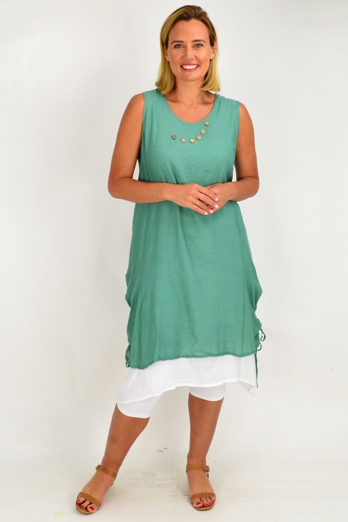 Green Overlay Tunic Dress | I Love Tunics | Tunic Tops | Tunic | Tunic Dresses  | womens clothing online